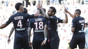 ПСЖ вкара девет гола в контрола пред фенове