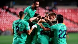 Реал Мадрид издържа срещу надъхан противник и хвана титлата с една ръка (видео)