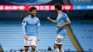 Манчестър Сити 1:0 Борнемут, Давид Силва откри от фаул (гледайте тук)