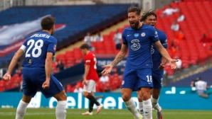 Челси победи Ман Юнайтед от четвъртия опит и ще играе на финал с Арсенал (видео)