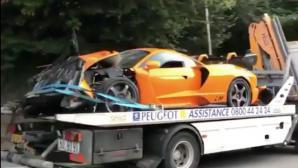 Бивш пилот от Формула 1 катастрофира с кола за един милион евро