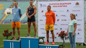 Петър Пеев и Инна Ефтимова са шампиони на 100 метра