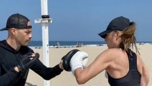 Мария Шарапова напредва все повече в бокса (видео)