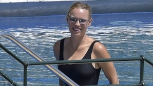 Каролин Вожняцки на семейна ваканция в Портофино