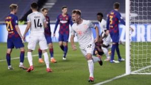 Барселона 2:4 Байерн, Суарес върна каталунците в играта