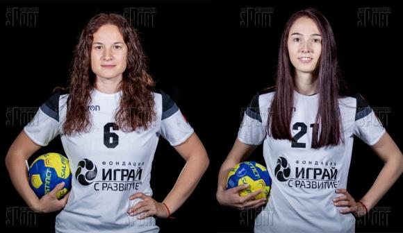Лидия Ковачева и Мадлен Тодорова преди дебюта им в Италия