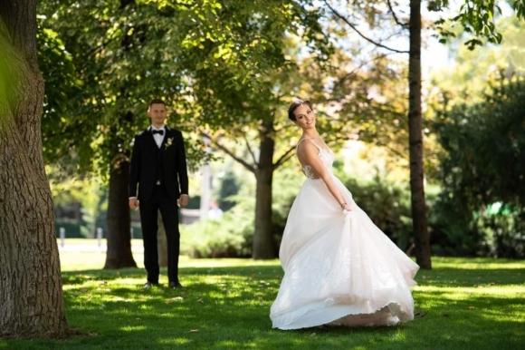 Хриси Дамянова не се раздели с артистичното плуване и на сватбата си