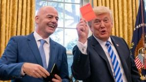 Шефът на ФИФА се срещна с Доналд Тръмп