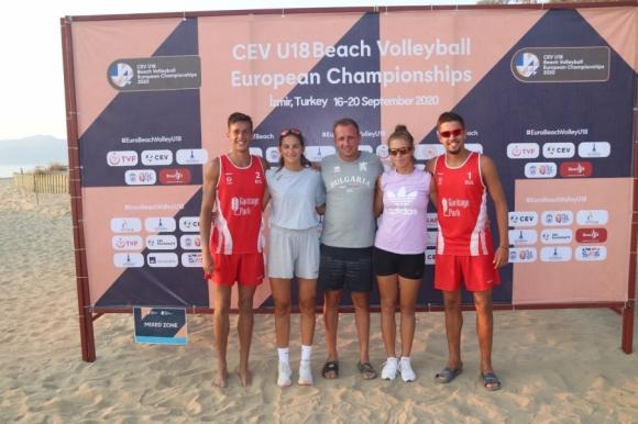 България отпадна от Европейското по плажен волейбол U18