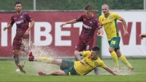 Осмият кръг на Втора лига започна с три срещи