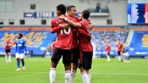 """Брайтън 0:0 Манчестър Юнайтед, греда за """"чайките"""" (гледайте тук)"""