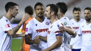 Лесна победа за Хайдук, Димитров с жълт картон (видео)