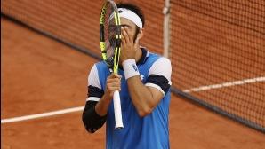 """Италианец и французин изиграха втория най-дълъг мач на """"Ролан Гарос"""""""