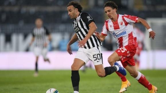 Звезда най-после вкара гол в дербито и остана далеч пред Партизан (видео)