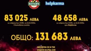 Феновете на Ботев (Пд) събраха още 16 000 лева за последните два дни
