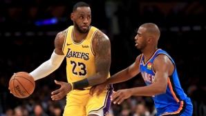 В НБА се заговори за сделка между Оклахома и ЛА Лейкърс, касаеща Крис Пол