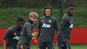 Кавани тренира с Юнайтед, готви се за дебют срещу ПСЖ