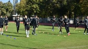 Футболистите на Клуж с тренировка на стадиона на НСА