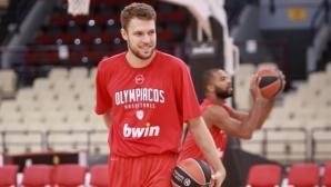 Везенков игра 20 минути при загубата на Олимпиакос като гост на Байерн Мюнхен