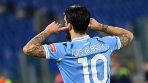 Лацио се завърна на победния път (видео)