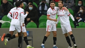 Севиля изтръгна късна победа в Краснодар и се класира за елиминациите (видео)