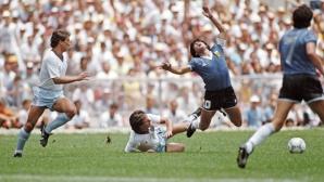 Марадона вкара с ръка, но какво да кажем за англичаните? (видео)