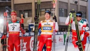 Йоханес Клаебо спечели преследването на 15 км свободен стил в Рука