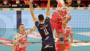 Алекс Грозданов записа 13 точки (5 блокади), но Равена отстъпи на Пиаченца