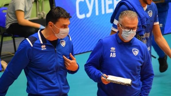 Андреа Буратини за Тренто, Симоне Джанели и младите волейболисти на Левски (видео)