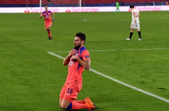 Жиру изригна с 4 гола, Челси разкъса Севиля