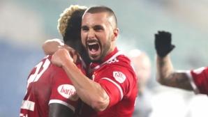 ЦСКА-София надви Левски въпреки пропусната дузпа и червен картон (видео+галерия)