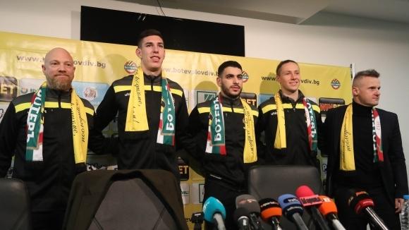 Ботев (Пловдив) представи трима нови (видео)