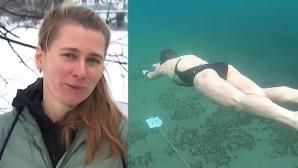 Рускиня постави Гинес рекорд за плуване под лед (видео)