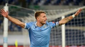 """Лацио унищожи Рома пред празните трибуни на """"Олимпико"""""""