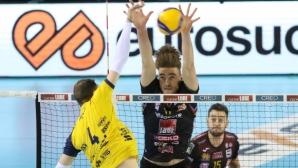 Лубе измъкна трудна победа в дербито с Модена (видео + снимки)