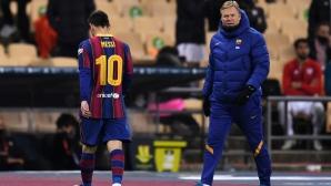 Меси с първи червен картон с екипа на Барселона