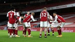 Впечатляващо второ полувреме затвърди възхода на Арсенал (видео)