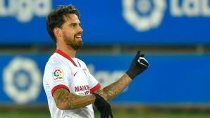 Севиля влезе в зона Шампионска лига след успех над Алавес (видео)