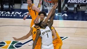 Зайън Уилямсън постави рекорд в НБА, но неговият Ню Орлиънс загуби от Юта