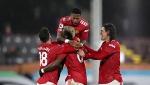 Погба отново изстреля Ман Юнайтед на първото място (видео)