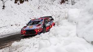 Танак поведе след първия ден на Рали Монте Карло, финландец със зрелищна катастрофа