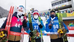 Александър Логинов с първа победа за сезона в СК по биатлон (видео)
