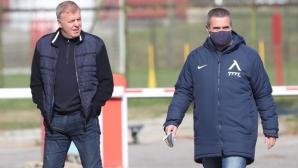 Наско Сираков инспектира Левски
