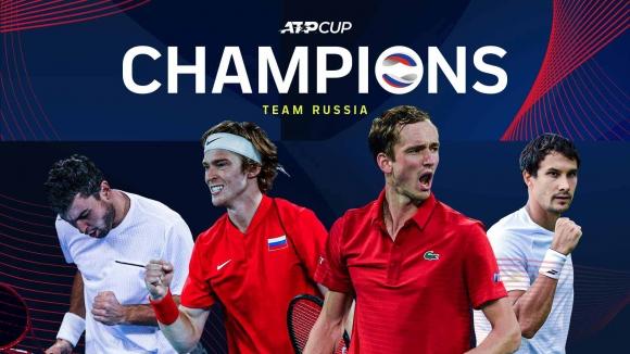 Русия е вторият шампион на ATP Cup (видео + снимки)
