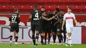 Леверкузен съсипа Щутгарт в мач със седем гола