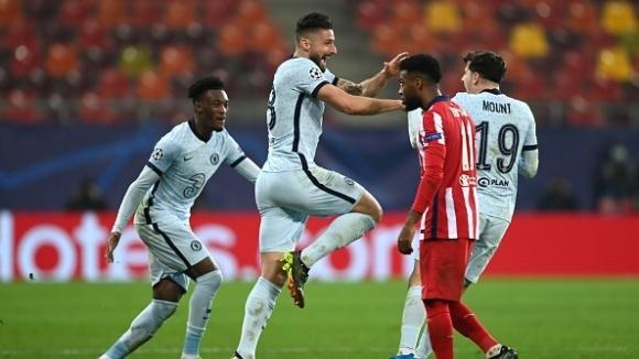 Магическо изпълнение на Жиру осигури предимство на Челси срещу Атлетико (видео + галерия)
