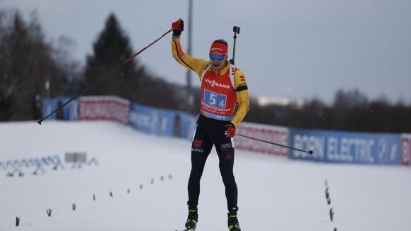 Германия разби конкуренцията в последната за сезона в СК по биатлон мъжка щафета