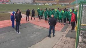 Феновете на Ботев (Вр) подкрепиха футболисти и треньори