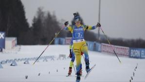 Финален спринт реши победата в последната за сезона в СК по биатлон женска щафета