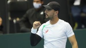 """Кузманов даде аванс на България в мача от """"Купа Дейвис"""" срещу Мексико"""